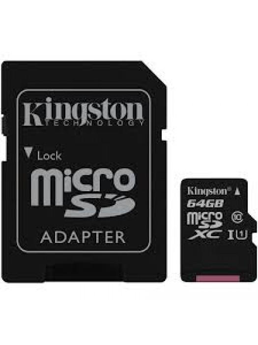 KINGSTON UHS-I MicroSDXC 64GB 80R class 10 SDCS/64GB + adapter